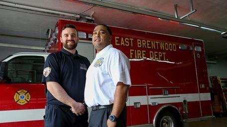 EMT Vincent Hartmann, left, and Chief Erik Vasquez