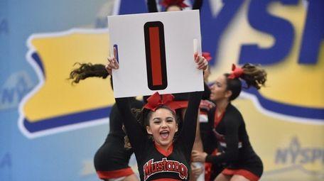 Mount Sinai's Giana Conforti cheering in the 2019