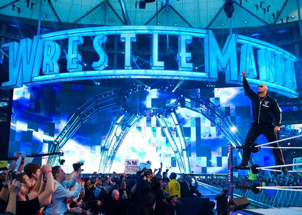 The Rock at WrestleMania XXVII in Atlanta, GA,