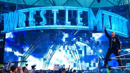 The Rock at WrestleMania XXVII in Atlanta, GA,