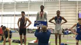 Freeport's Kevon O'Brien-Hall (600-meter run) and St. Anthony's