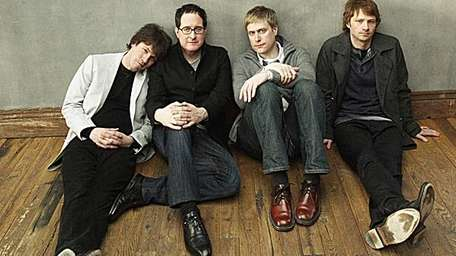 Craig Finn, left and the members of The