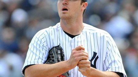 Yankees starter Phil Hughes. (Apr. 3, 2011)