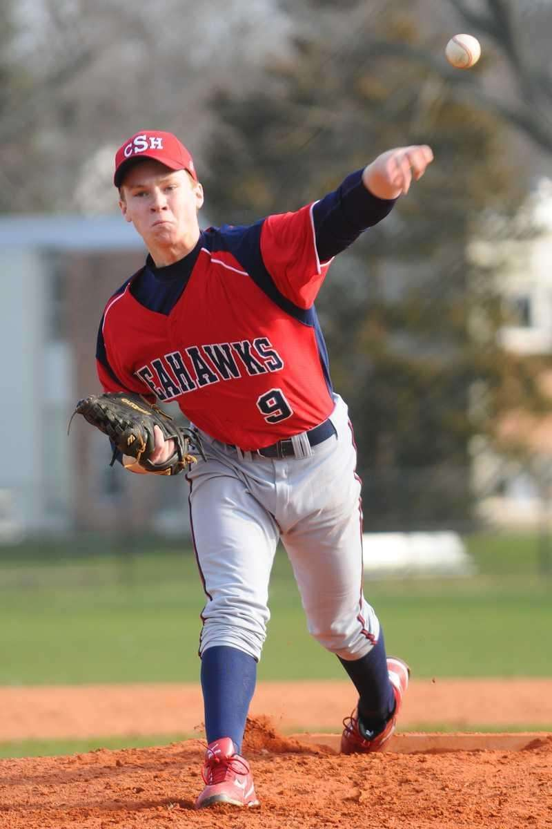Cold Spring Harbor pitcher Sean O'Neill delivers to