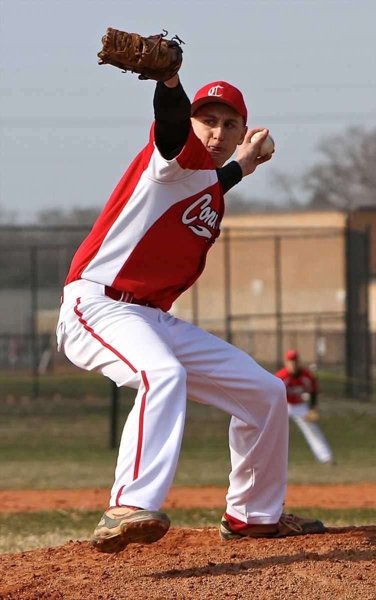 Connetquot starting pitcher Dan Treadwell delivers to the