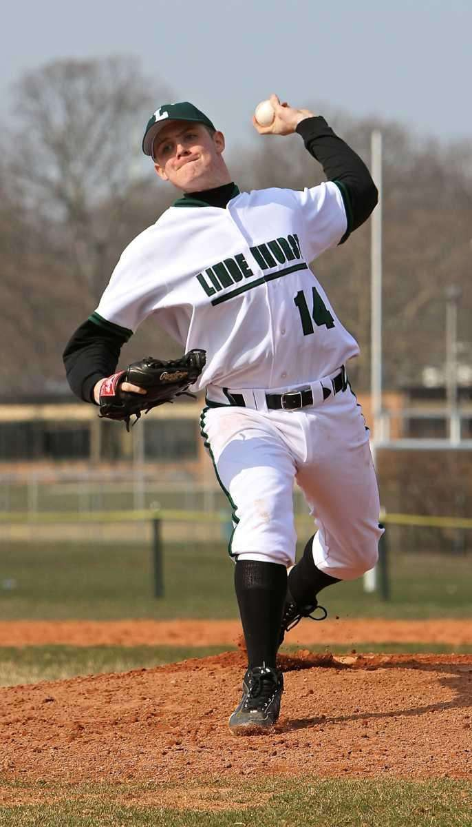 Lindenhurst starting pitcher Rich Vrana delivers to the