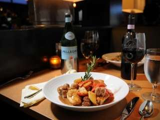 Entrees offered at La Piazza restaurant in Melville