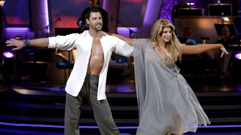 Actress Kirstie Alley and her partner Maksim Chmerkovskiy