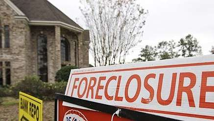 A file photo of a home in foreclosure.