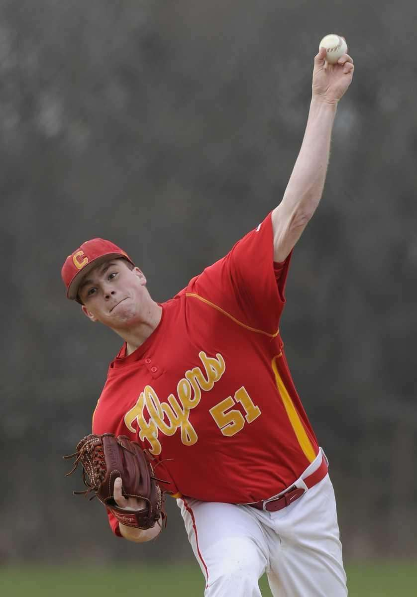 Chaminade pitcher Kevin Weissheier delivers to the plate