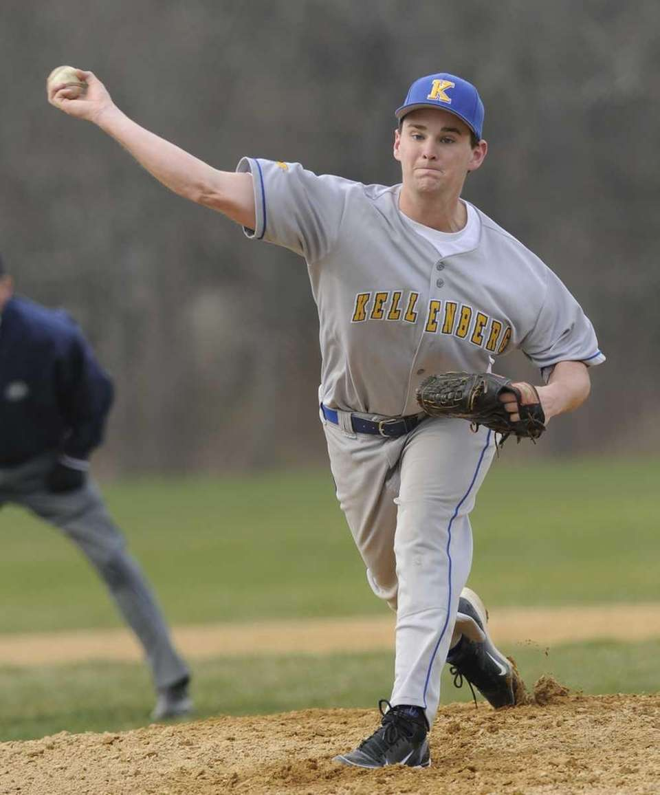Kellenberg pitcher Timothy Deegan delivers to the plate