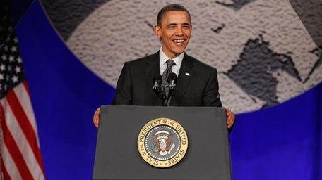 President Barack Obama at the National Action Network