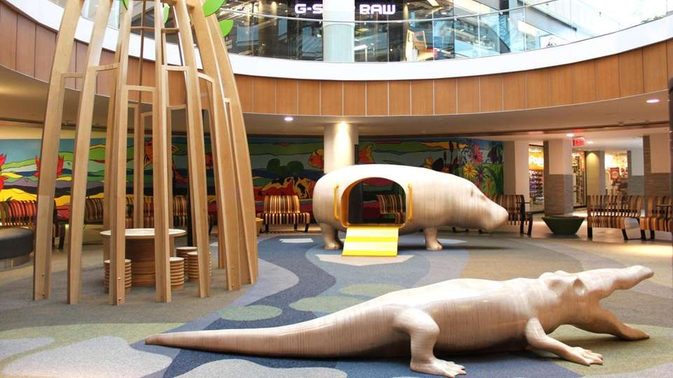 Free playtime at Roosevelt Field takes place on