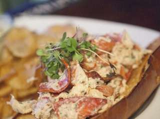 A classic lobster roll at Left Coast Kitchen,