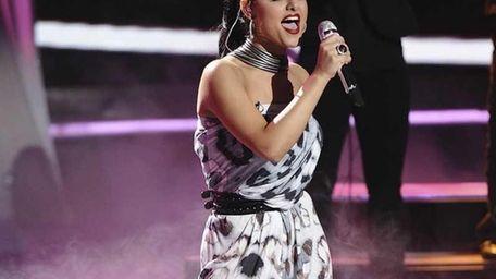 Pia Toscano performs