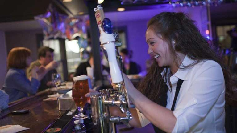 Jessica Vasey, a bartender at Left Coast Kitchen