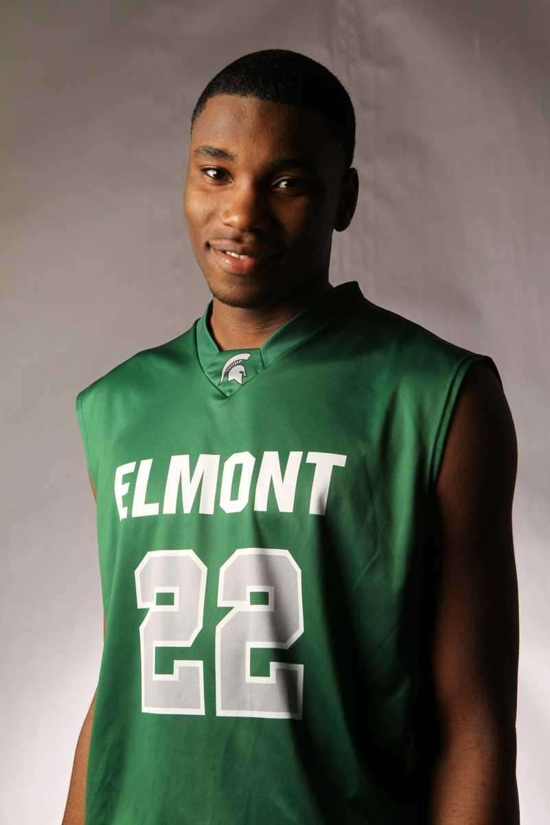 ANTHONY ELECHI Elmont, Forward, Sr. Seeing the Spartans'
