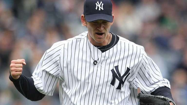A.J. Burnett #34 of the New York Yankees