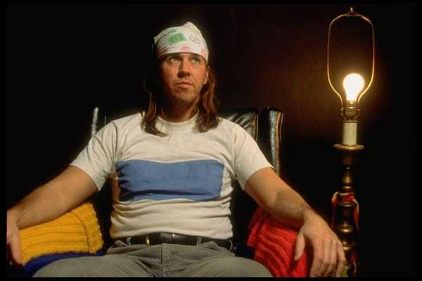 Author David Foster Wallace sits for a portrait