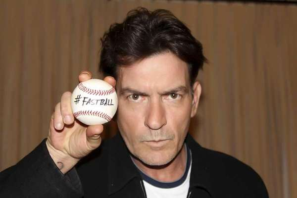 Publicity photo of Charlie Sheen for his live