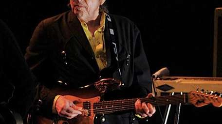 Bob Dylan performs with his band in Beijing