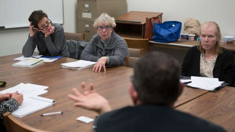 Rita Kavanagh, left, attends a training facilitated by