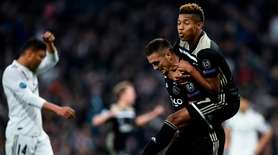 Ajax's Serbian forward Dusan Tadic celebrates with Ajax's