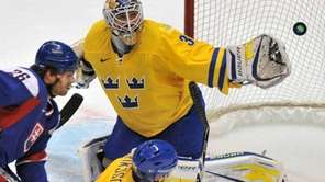 Henrik Lundqvist, who helped Sweden win a gold