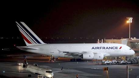 An Air France Airbus A380 passenger jet is