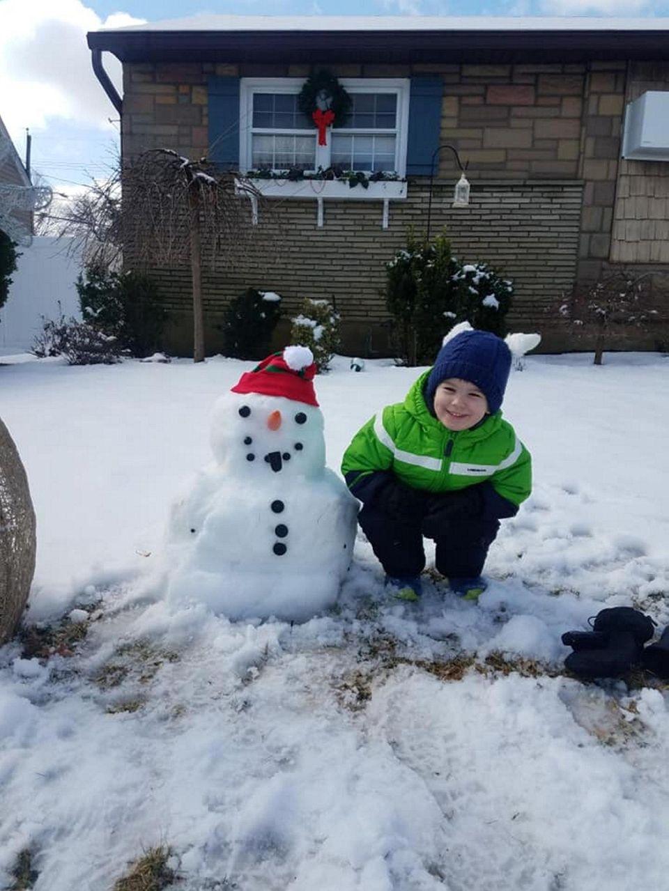 His name is Brayden the Snowman.