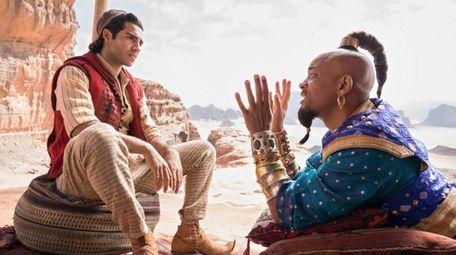"The live-action ""Aladdin"" costarring Mena Massoud, Naomi Scott"