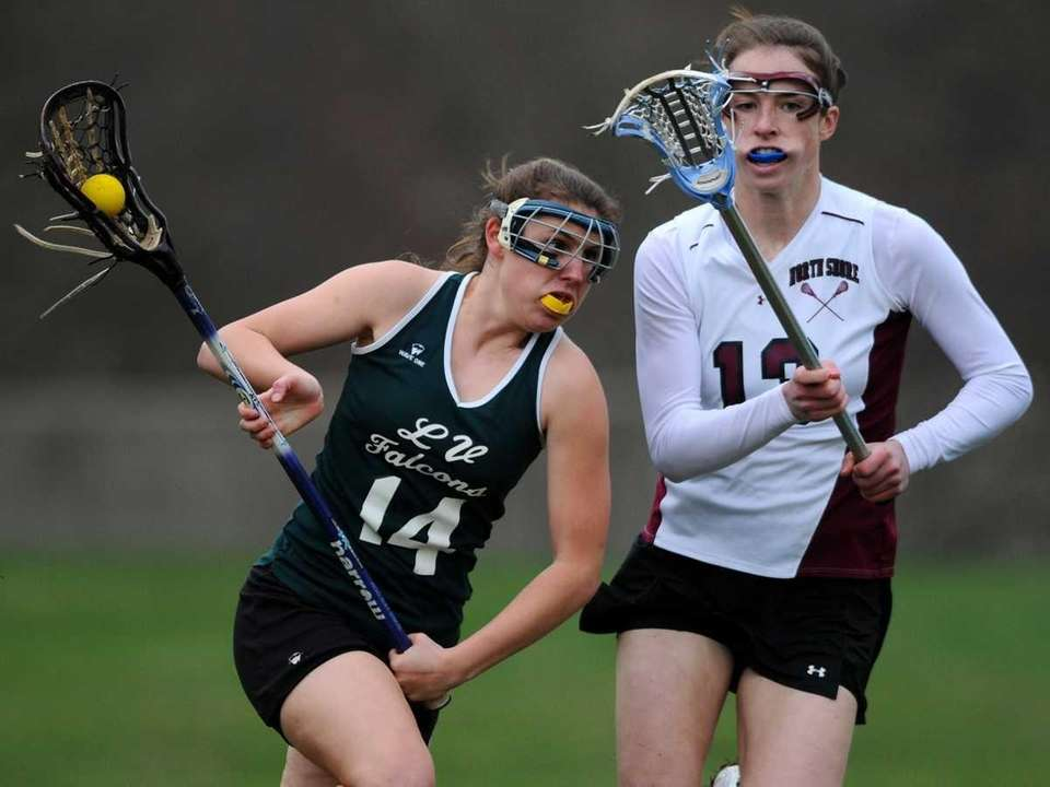 Locust Valley High School #14 Stephanie Lucidi, left,