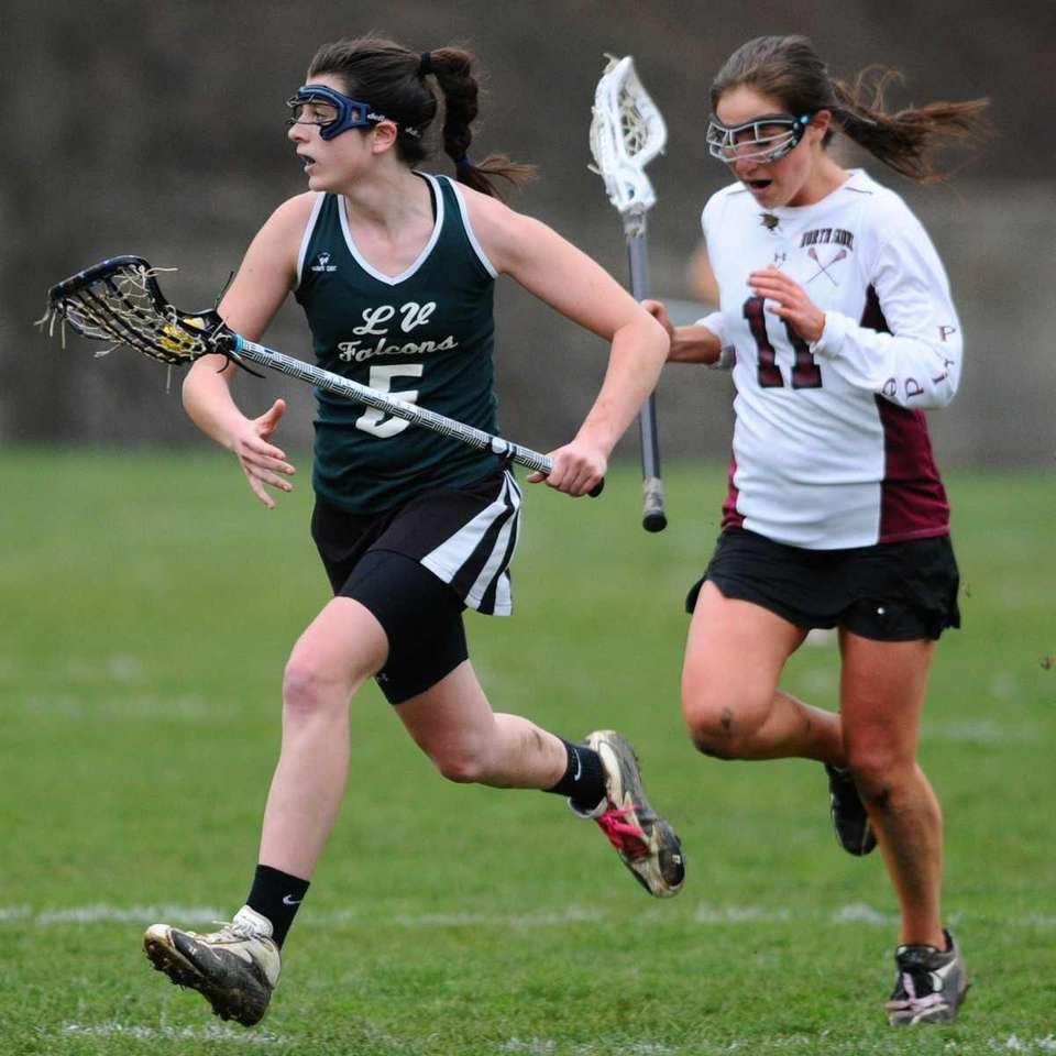 Locust Valley High School #5 Taylor Bleistein, left,