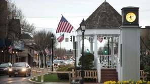 Amityville's landmark gazebo and clock tower are located