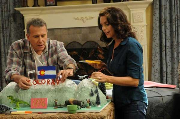 From left, Paul Reiser as Paul and Amy