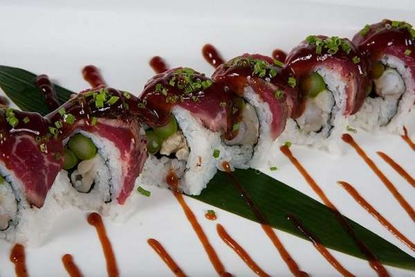 Surf-and-turf roll at Thom Thom