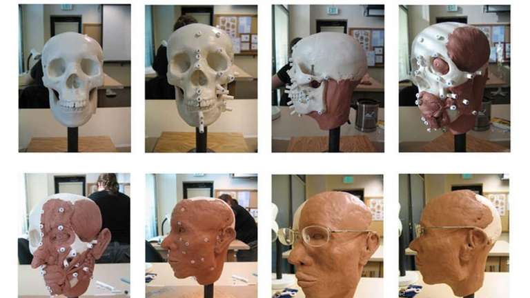 Work from a one-day workshop with forensic sculptor