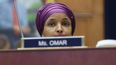 Rep. Ilhan Omar (D-Minn.), seen Wednesday, stirred controversy