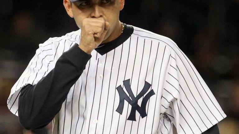 Luis Ayala #38 of the New York Yankees