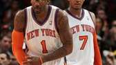 The Knicks' Amar'e Stoudemire and Carmelo Anthony against