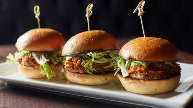 Sliders are a house special, savory and generous,
