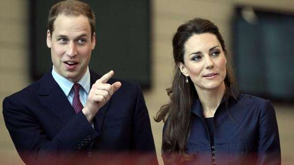 Prince William and his fiancee, Kate Middleton