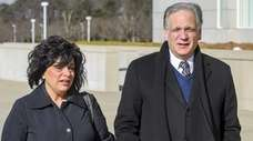 Linda and Edward and Mangano arrive at federal