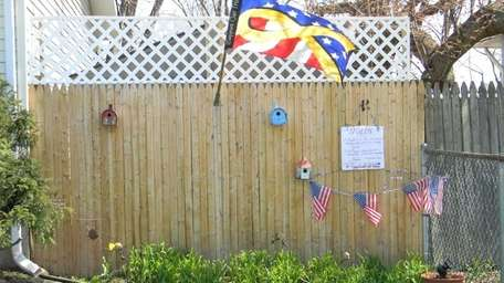 Sharon O'Connor's Brentwood garden, dedicated to victims of