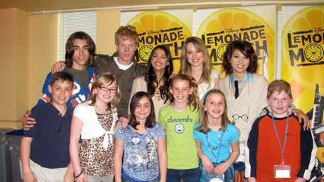Actor Blake Michael, Adam Hicks, Naomi Scott, Bridgit