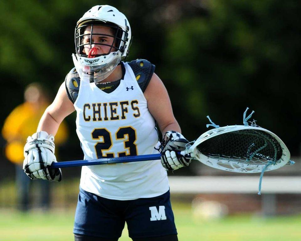 Massapequa High School goalkeeper #23 Christina Fiorinelli keeps