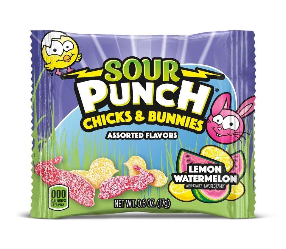 Great for Easter baskets, the Sour Punch gummy