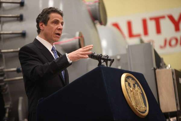 Gov. Andrew M. Cuomo signs the Recharge New