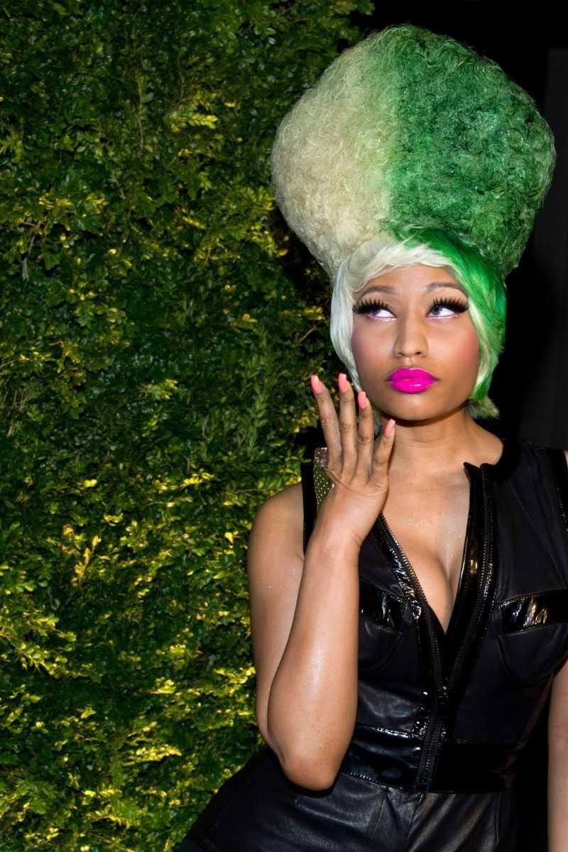 Stage name: Nicki Minaj Birth name: Onika Tanya