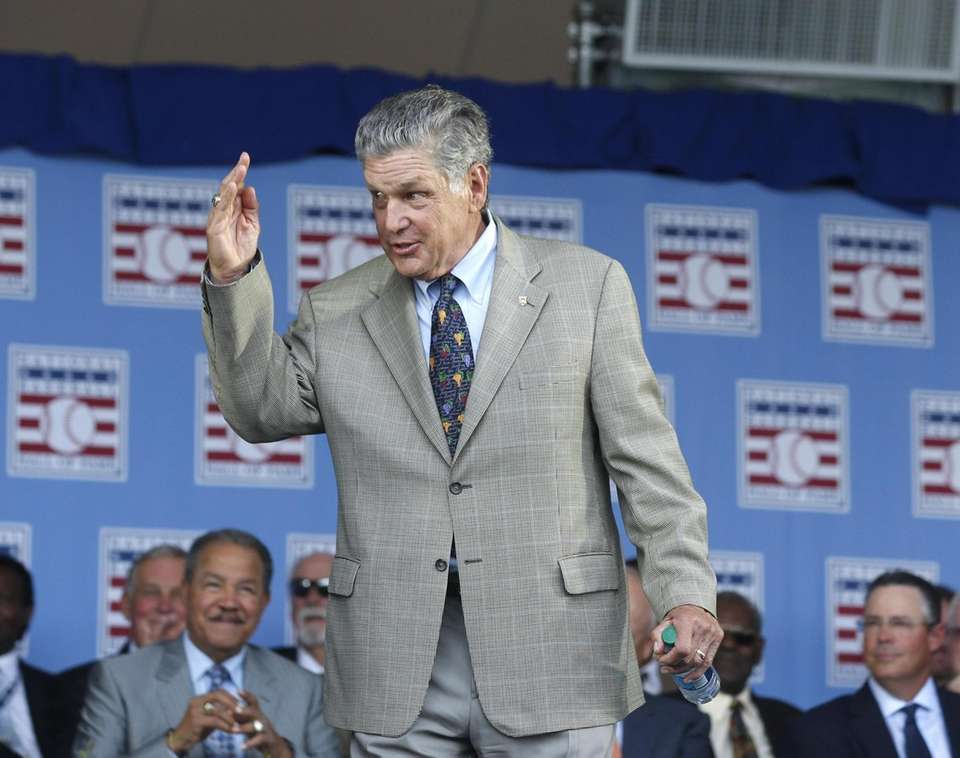 National Baseball Hall of Famer Tom Seaver arrives